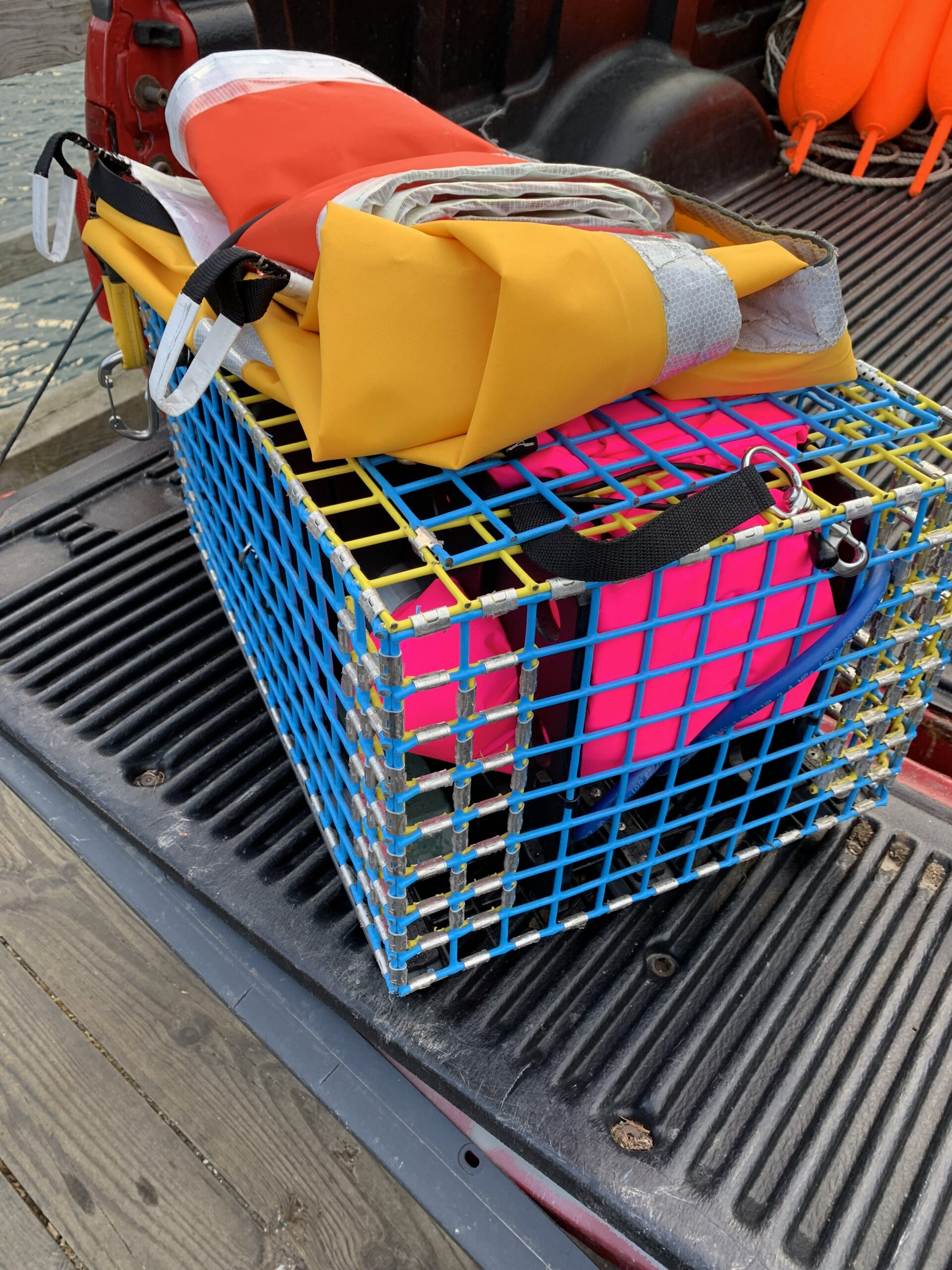 Safe fishing gear including lobster trap